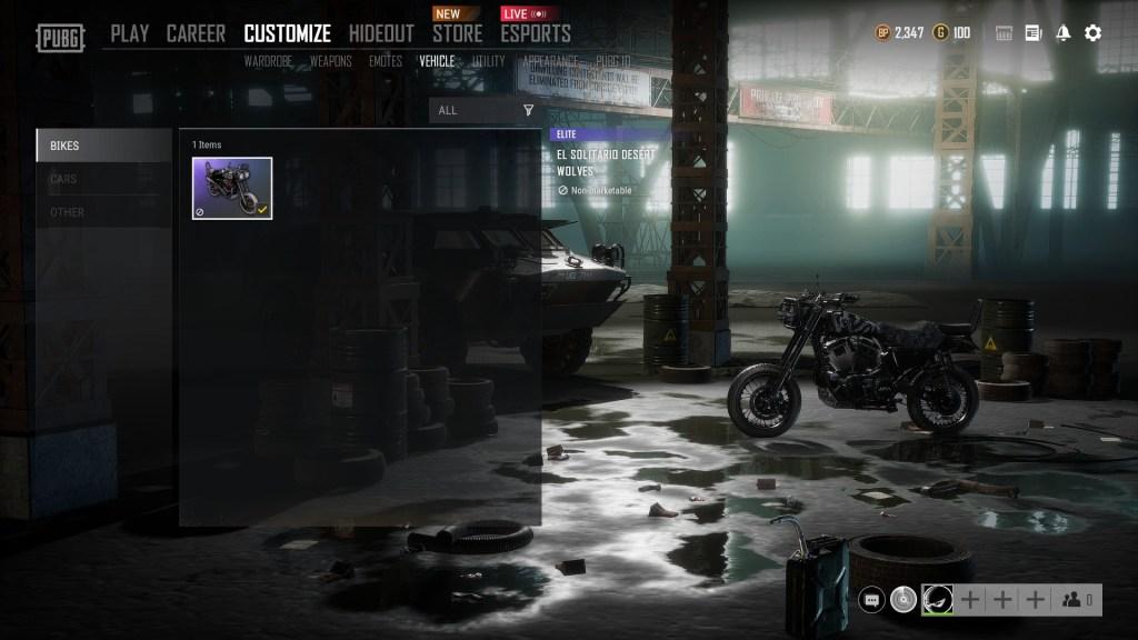 PUBG x El Solitario motorcycle