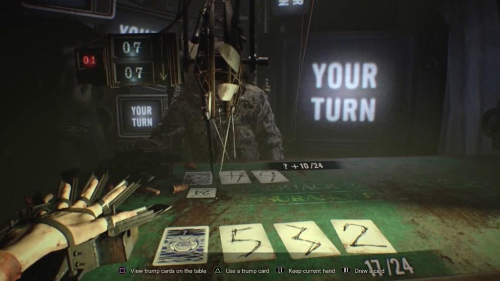 Blackjack in Resident Evil VII Biohazard