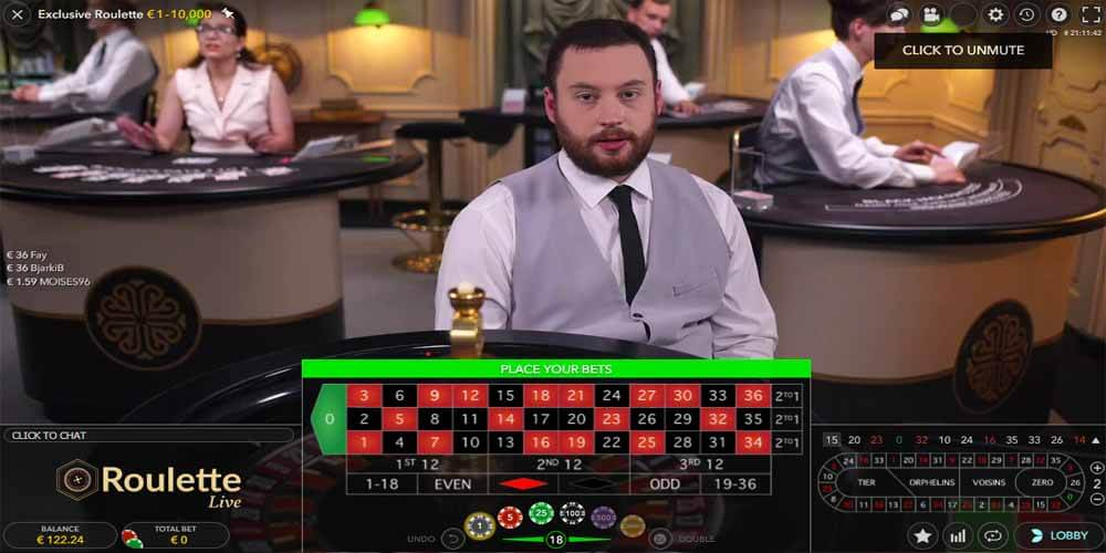 Live Roulette Male Croupier