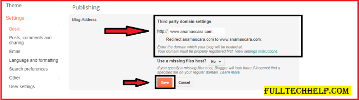 Setup Bigrock custom domain in Blogger : A Beginner's Guide