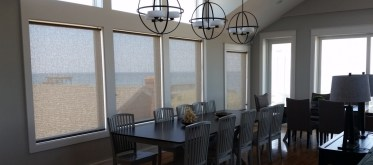 Solar Shades in Oceanfront Dining Room