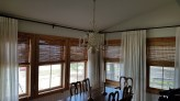 Wovenwood Shades with Linen Drapes