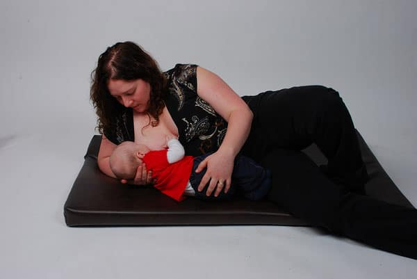 side lying breastfeeding hold