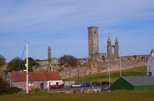 View of the magnificient Cathedral in St Andrews