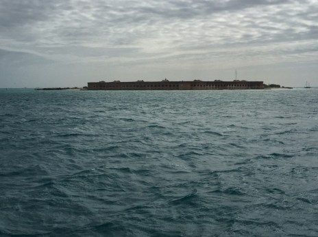 First sighting of Fort Jefferson, Dry Tortugas NP