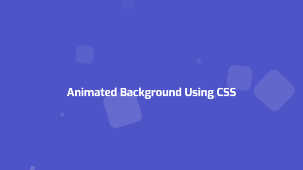 Pure CSS Animated Background - Full To Tech