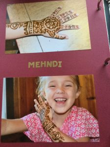 Pictures of my daughter's lesson on Mehndi