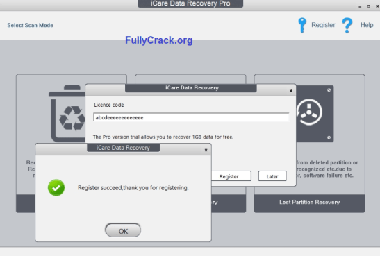 serial keys for icare data recovery
