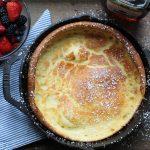 Pancake, Breakfast, Dutch Baby Pancake, Dessert, Baking, Recipe