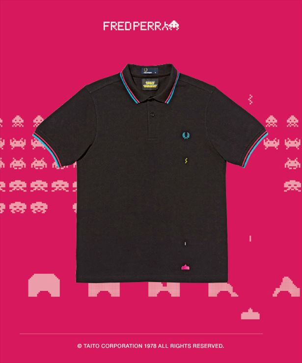 SM6032 Space Invaders Laser Beam Tipped Shirt