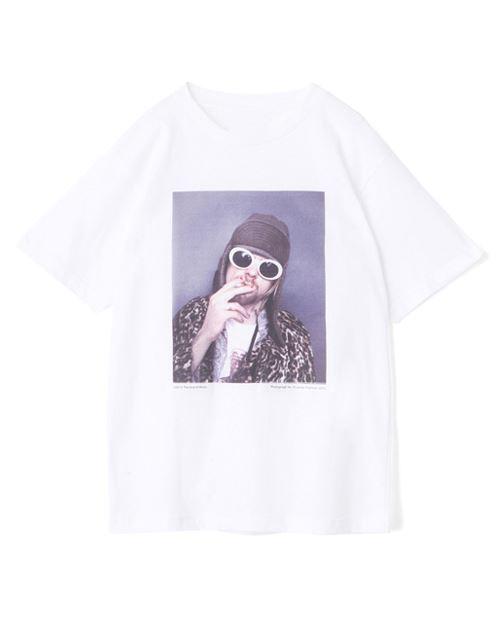 メゾンドリーファー×野口強コラボTシャツ1枚カートコバーンプリントバストアップ