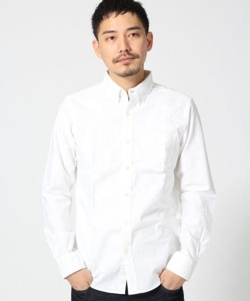 無印良品 | オーガニックコットン洗いざらしオックスボタンダウンシャツ紳士XS・白 通販