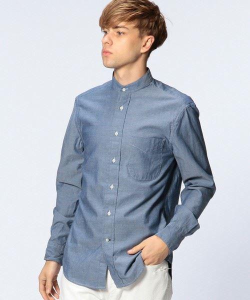 UNITED ARROWS MENS GITMAN BROTHERS(ギットマンブラザーズ)UASP シャンブレーバンドカラーシャツ