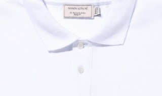 maison-kitsuneポロシャツ2015春夏モデル胸部アップの画像