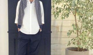 白リネンシャツの春夏メンズコーディネート画像1