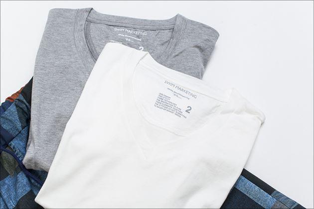 ロンハーマン×ホワイトマウンテニアリングコラボVネックTシャツ1