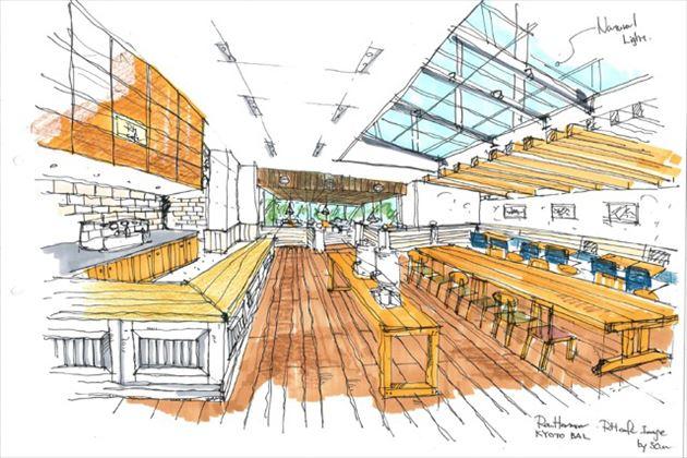 2015年8月オープンのロンハーマン京都店店内イメージ3