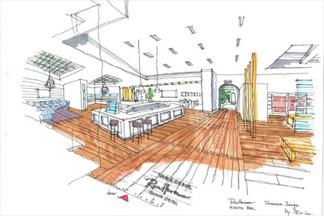 2015年8月オープンのロンハーマン京都店店内イメージ7