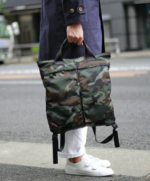 PORTER×LOWERCASE別注コレクション第5弾カモフラヘルメットバッグ画像1