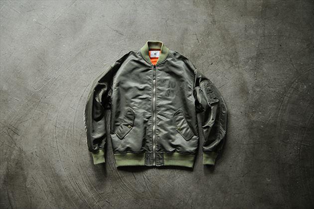 soe2015秋冬コレクションMA-1型ボンバージャケットカーキ