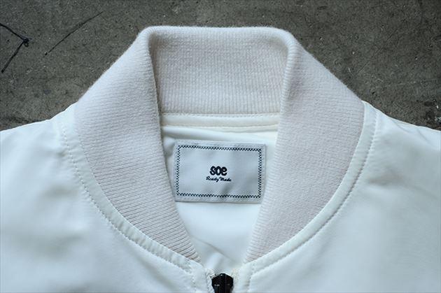 soe2015秋冬コレクションMA-1型ボンバージャケットホワイト3