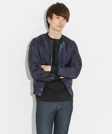 ALPHA INDUSTRIES × SENSE OF PLACE by URBAN RESEARCHコラボインナーMA-1メンズネイビー