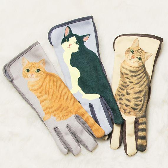 フェリシモ「ネコのしっぽフリフリ手袋」画像2