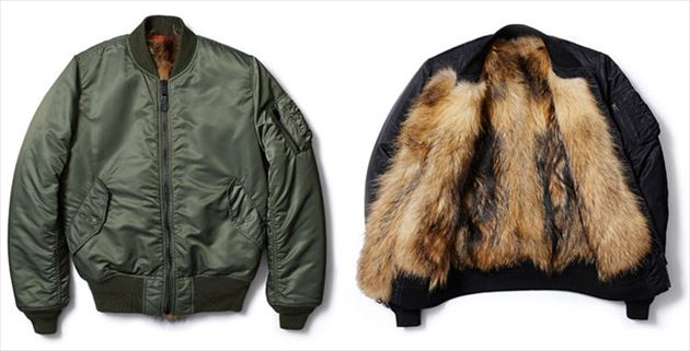 ALPHA x uniform experiment RACCOON FUR LINING MA-1