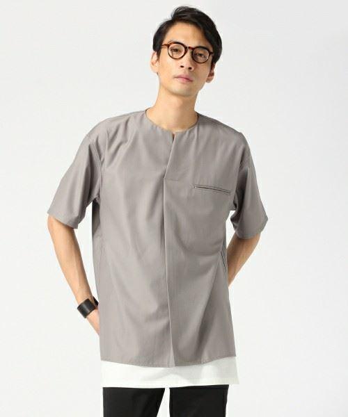 ロング丈Tシャツを着こなしたメンズコーディネートの代表例画像1