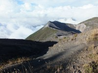 Foto tomada desde la parte más alta del Volcán Irazú en la provincia de Cartago, Costa Rica.