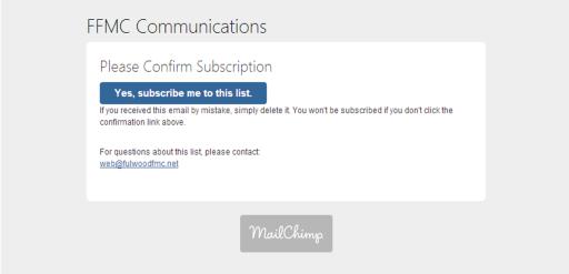 FFMC Communications Confirmation