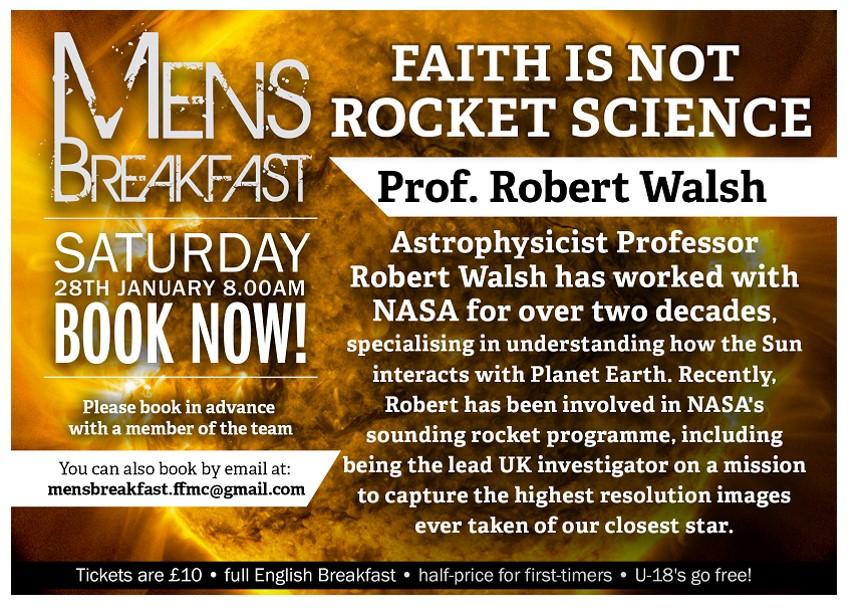 Faith is Not Rocket Science | Robert Walsh | Men's Breakfast