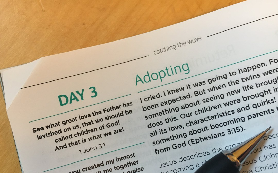 Adopting – reflections from Sue Chastney | Day 3 | catching the wave | Focus on 40