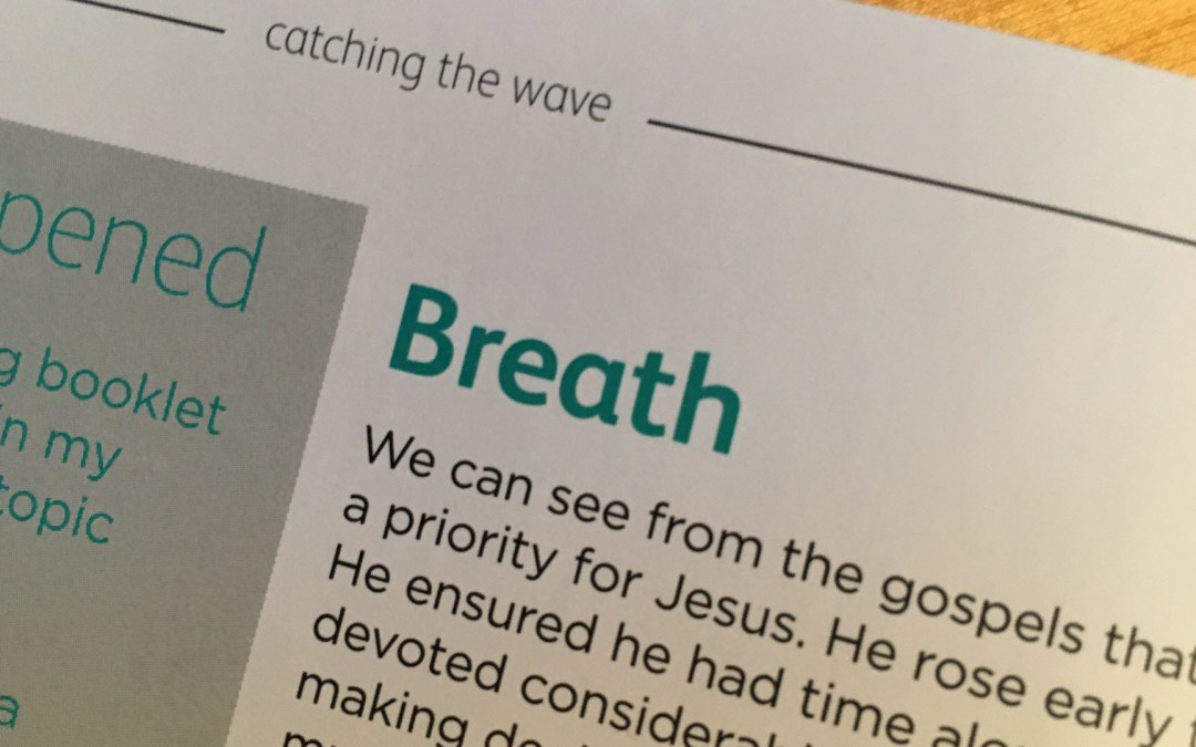 Breathe– reflections from Andrew Gardner   Day 5   catching the wave   Focus on 40