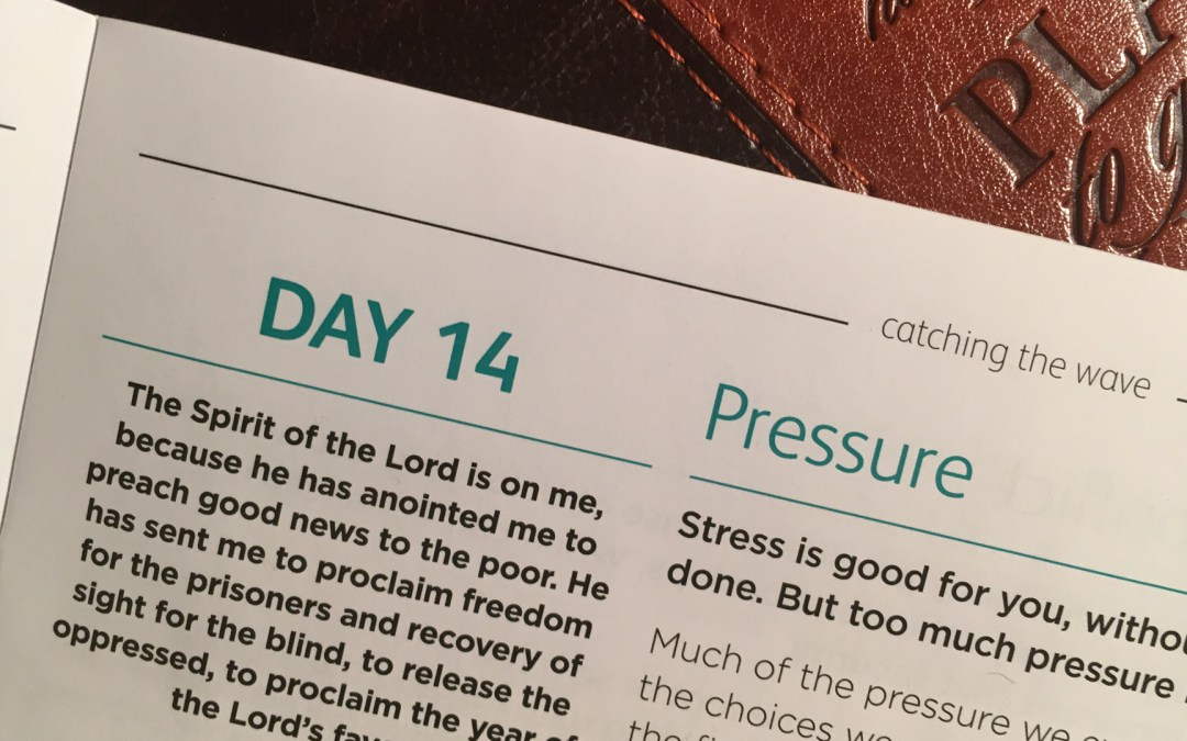 Pressure – reflections from Andrew Gardner | Day 14 | catching the wave | Focus on 40