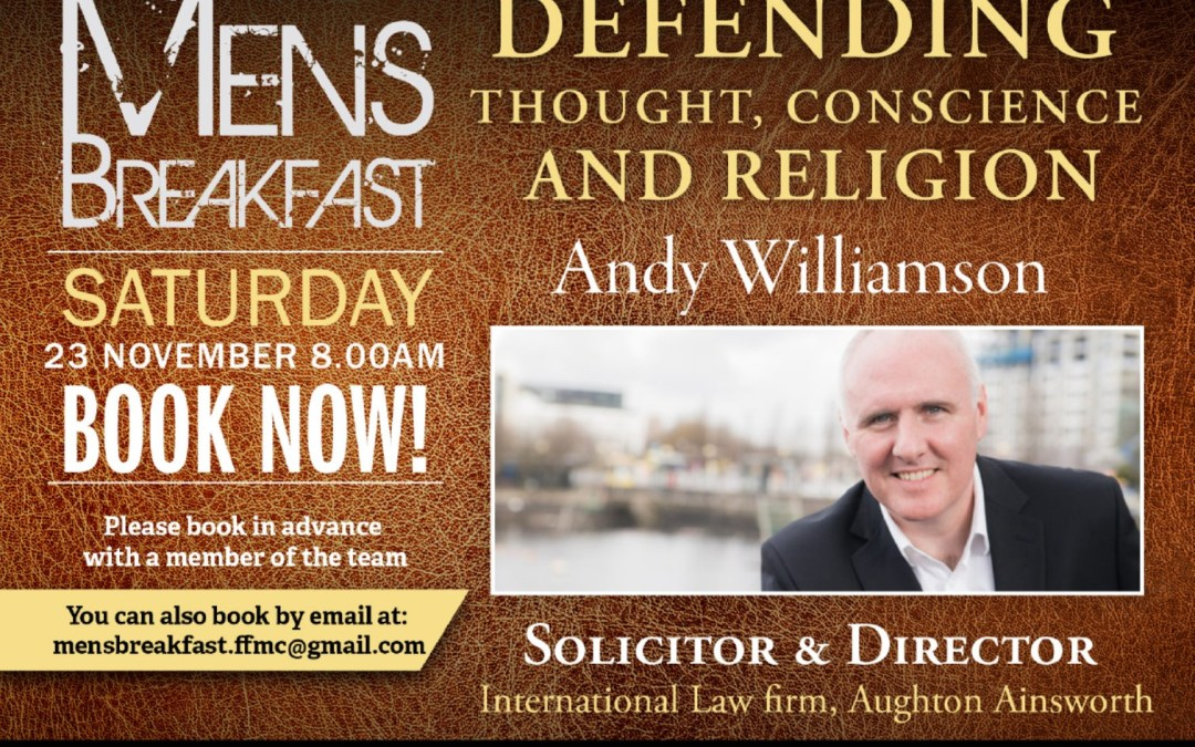 Men's Breakfast with Andy Williamson