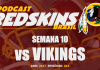 Vikings vs Redskins – Semana 10 – Temporada 2017