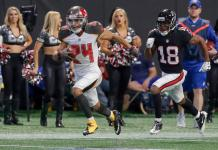 O Atlanta Falcons derrotou o Tampa Bay Buccaneers por 34 a 20