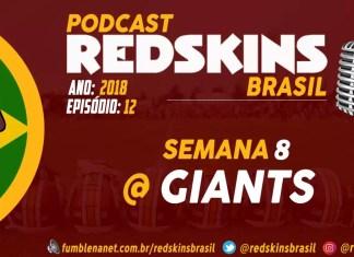 Redskins at Giants Semana 8 2018