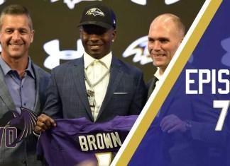 Marquise Brown, primeira escolha do Baltimore Ravens no Draft