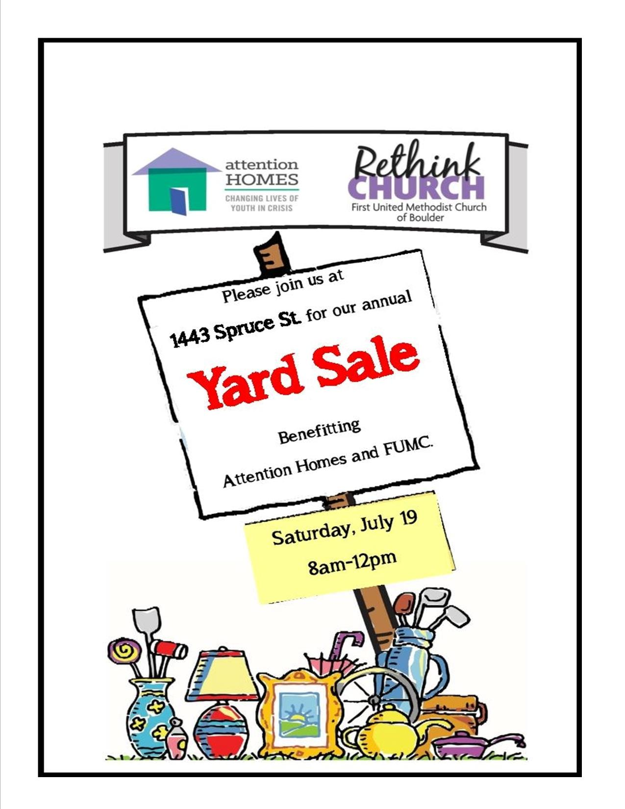 Upcoming Events Fumc And Attention Homes Yard Sale