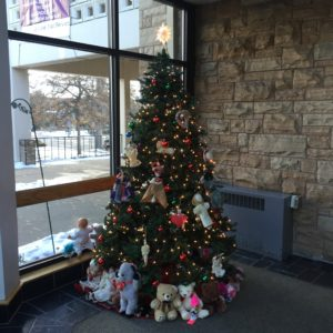 Christmas tree entryway