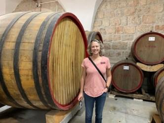 Brenda at a Cremisan Winery.