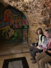 Anna and Brenda in the grotto at St. Anne's where tradition says Mary, the mother of Jesus, was born.