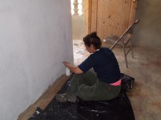 A mother of one of our students came along with us and helped paint the kitchen / dining hall