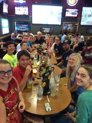 Dinner at Buffalo Wild Wings
