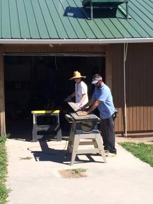 Cutting new wood