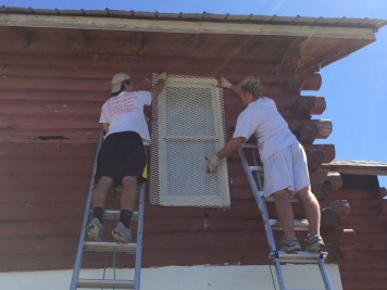 Re-hanging the window grates