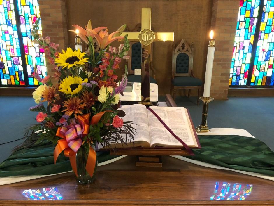 Altar for Bishop's Visit