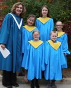 Children's Choir with their director, Janet Searfoss